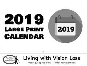 2019 large print calendar cover