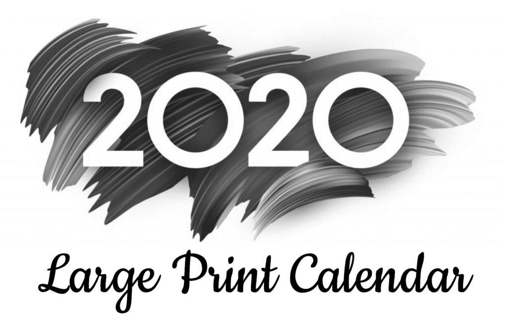 Large Print Calendar 2020 cover